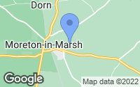 Map of Moreton-in-Marsh, Gloucestershire
